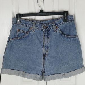 Vintage Levi's 954 high rise cuffed mom shorts